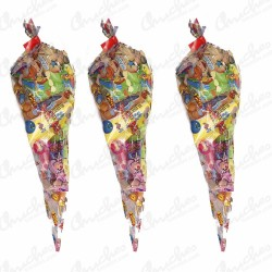 20 Economical sweet party cone bag with sweets 40 cm x 20 cm