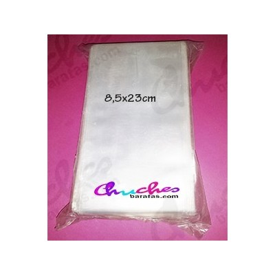 Bolsa transparente 8,5 cm x 25 cm 100 unidades