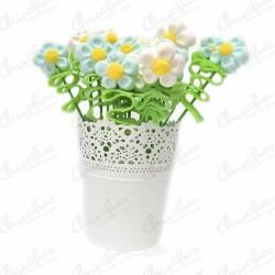 Planter metal sweet daisies custom