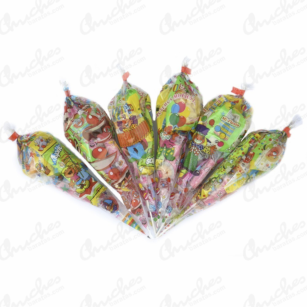 7b97766c6 Bolsa cono sweet party rellena de chuches 40 cm x 20 cm