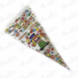 Clown cone bag 40 x 20 cm 100 pieces