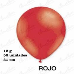 Bolsa 50 Globos 31cm. DECOHELIUM REDONDO-ROJO