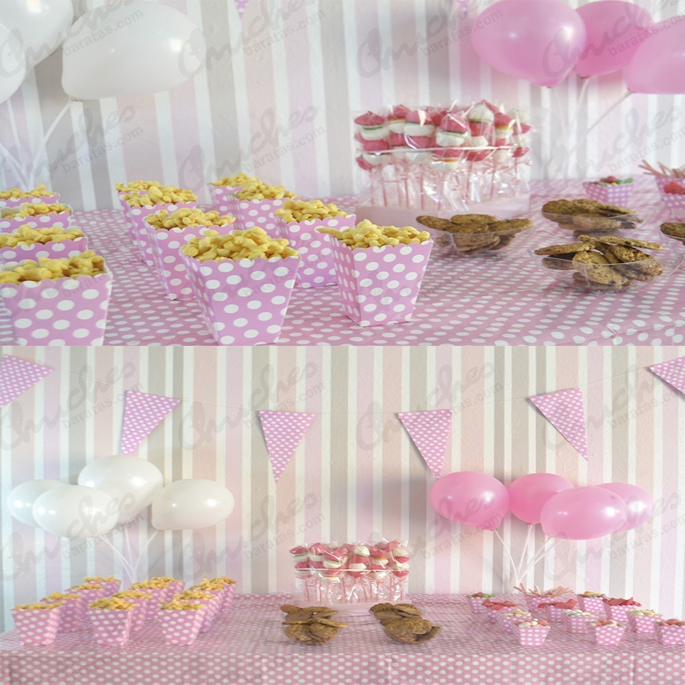 Mesa econ mica rosa chuches baratas - Centro de mesa de chuches ...
