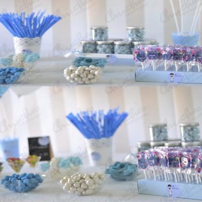 Mesa comuión azul