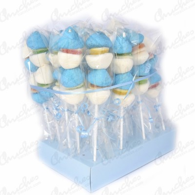 Brochetas azules y blancas 20 unidades