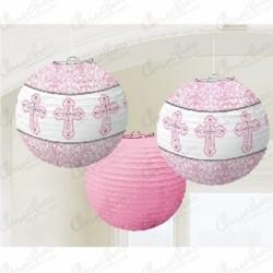 Pink communion lanterns 3 units