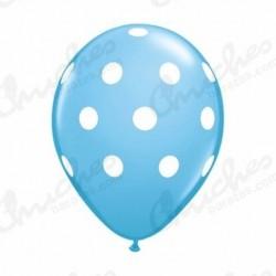 Globo azul lunares 10 unida
