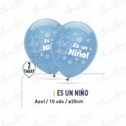 Lapel 10 balloons christening child