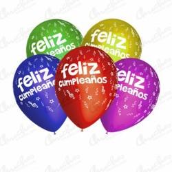 8 globos feliz cumpleaños