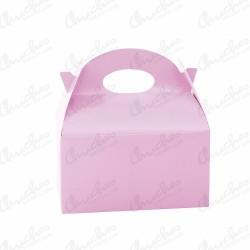 Caja lisa rosa 12 unidades