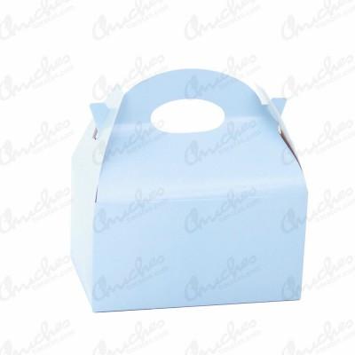 Caja lisa azul 12 unidades