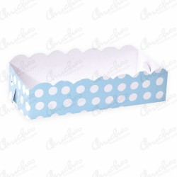 Blue polka dot tray 19.5x9.5 cm