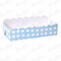 Blue polka dot tray 19.5x9.5 cm