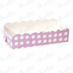 Pink polka dot tray 19.5x9.5 cm