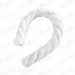 1kg Fluted clouds white 30 cm