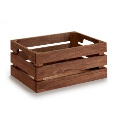 Brown wooden box 28x18x12 cm