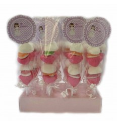Pink communion skewers 20 units