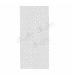 100 white dot bags 10x25 cm