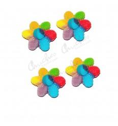 Multicolor sugary flowers