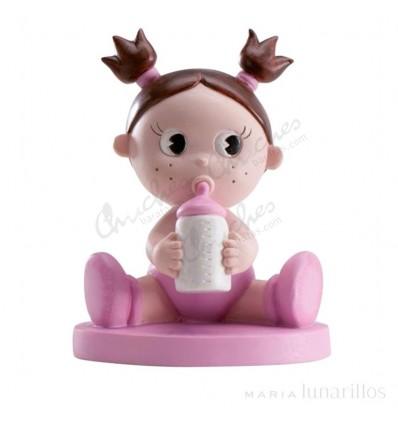 Baby girl christening baby bottle