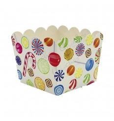 3 candy boxes 10x10x8,5 cm