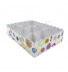 Tray 9 candy compartments Plasticized