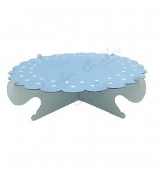 Porta dulces 1 piso azul rayas y lunares