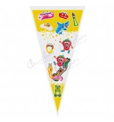 100 Empty gummy cone bag 20x40