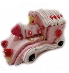 Pink train pie Candy cake