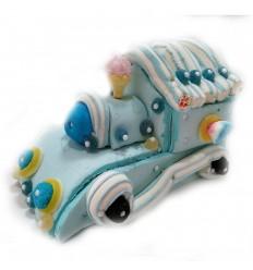 Tarta tren azul