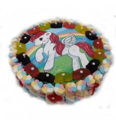 Tarta oblea unicornio 28 x 8 cm