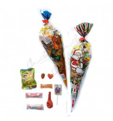 20 Christmas cone bag with jelly beans