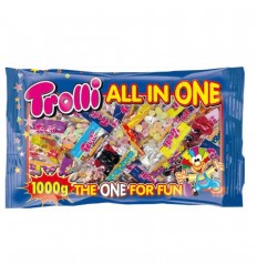 50x20g bag of jelly beans 1 kg trolli