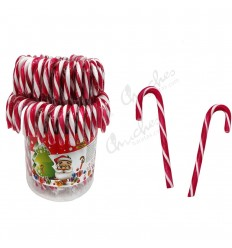 Large red and white canes 28 g x 50 units
