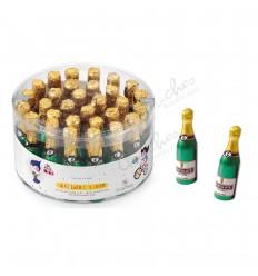 Medium milk chocolate champagne bottle 30 units