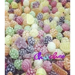 candies pill fruits