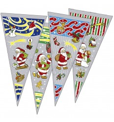 Cone bag 20x40 cm Santa Claus 100 units