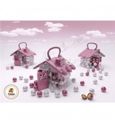 Casita fantasia chocolate rosa y blano