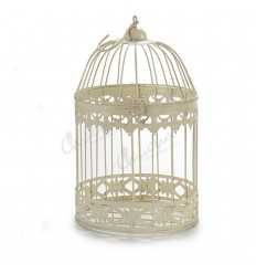 Round white forged cage broken broken white