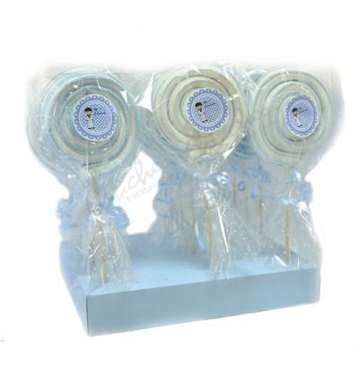 Communion blue cloud lollipop