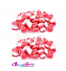 Mini corazón fresa nata azúcar 100 gramos