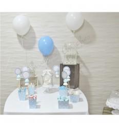 Sweet blue polka dot table kit