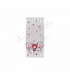 100 bag bears hearts 10x25 cm