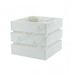 caja madera cuadrada blanca 12,5x12,5x 11 cm