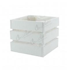 white square wooden box 12.5x12.5x 11 cm