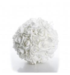 Bola rosas foam blanca 10 cm