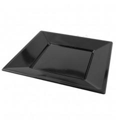 5 platos negros 23 cm