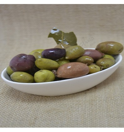 Cracked purple olive