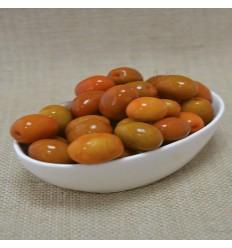 Aceitunas sabor berenjenas con hueso