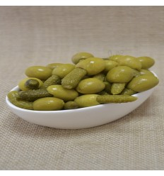 Pitted olive with gherkin 220 g